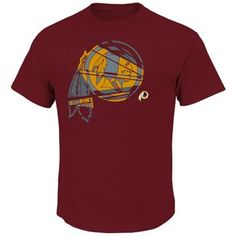 Women's Washington Redskins Antigua Burgundy Score T-Shirt