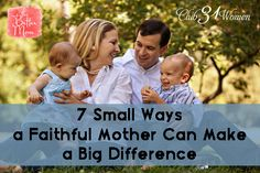 Do you long to offer hope to the aching and anguished?Do you want to raise a family that loves the Lord and will be a light to an ever-darkening world? Well, mom, you are a world changer! Come discover 7 small ways that being a faithful mother can make a big difference in our world.
