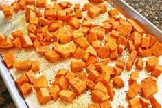 """Friends, prepare yourself to be coerced, convinced, pled with and tremendously """"talked into"""" making this heavenly Roasted Sweet Potatoes. I cannot say enough good things about them, ser… Ic Recipes, Holiday Recipes, Cooking Recipes, Healthy Recipes, Healthy Food, Healthy Eating, Oven Roasted Sweet Potatoes"""