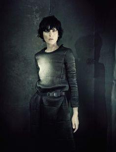 Panelled sweater - dark grey