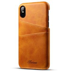 iPhone X Wallet Case,Leather Card Case For iPhone X, Premium PU Leather Case with Business Credit Card Slot Holder, - Ultra Slim Professional Executive Snap On Cover with 2 Card Holder Slots (Khaki) Iphone 8 Plus, Iphone 7, Best Iphone, Iphone 8 Cases, Apple Iphone, Iphone Leather Case, Leather Card Case, Leather Wallet, Pu Leather