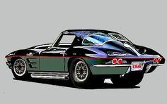 Corvette, Hot Rods, Trucks, Cartoon, Cars, Drawing, Vehicles, Corvettes, Autos