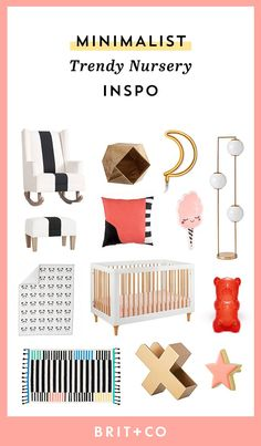 Give your baby's nursery a minimalist look with these trendy home decor pieces.