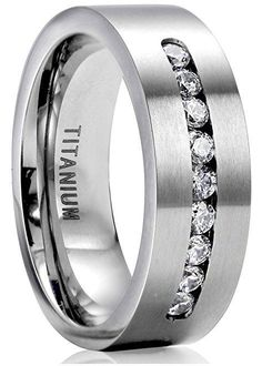 8mm Titanium Engagement Rings for Men Promise Ring Jewelry