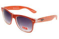 54021fdef28 Ray Ban Wayfarer Logo Prints RBZX300 Purple Orange Sunglasses BGM Red  Sunglasses