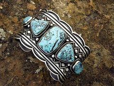 Bracelet ANDY CADMAN Sterling Silver Turquoise Fabulous Wearable Art Cuff Bracelet By Andy Cadman Sterling Silver and Turquoise 120 Grams 1 Inches Wide and a back opening of 1 inches. Navajo Jewelry, Cuff Jewelry, Silver Jewelry, Vintage Jewelry, Jewelery, Indian Jewelry, Cuff Bracelets, Turquoise Cuff, Turquoise Jewelry