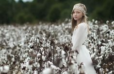 Girl in a Cotton Field