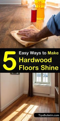 Learn how to make your hardwood floors shine again using one of our DIY hardwood floor cleaners and conditioners. Use household ingredients such as vegetable or olive oils, along with vinegar and water, to clean and condition your floors. #hardwoodflooring #cleanwoodfloors #shiny