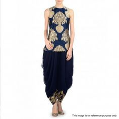 #Navy #Blue #Top with Dhoti #Style #Pant. #Fashion #love #beauty