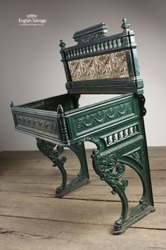 Reclaimed Cast Iron Tiled Basin Washstand