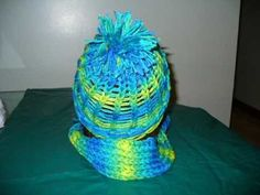These I made with a knitting loom