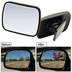 "2x Car Truck Van 2/"" 360° Rotatable Rimless Rear-View Blind Spot Glass Mirror MA"