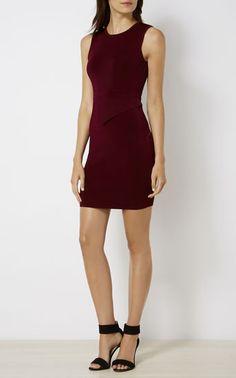 Karen Millen, ASYMMETRIC WAIST DRESS Purple