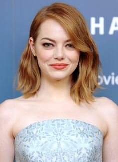 Emma Stone attends a VIP screening of 'Aloha' at Soho Hotel on May 16, 2015 in London, England.