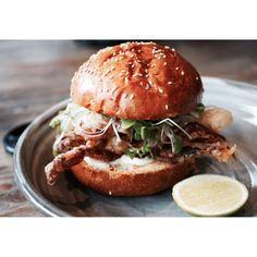 Soft shell crab burger #food #asianbutnoasian