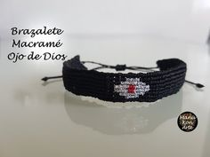 DIY Tutorial Brazalete Macramé Ojo de Dios/Evil Eye Macrame Bracelet - YouTube
