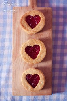 cookies with rose jam