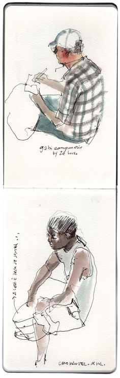 The lovely loose sketches of- a janela de Alberti