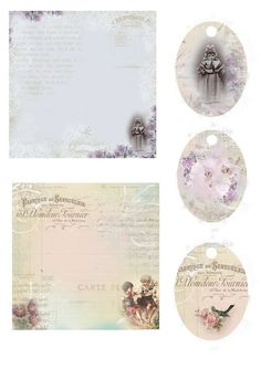 From Astrid's Artistic Efforts Freebies  6x6 Papers and Egg shaped Tags perfect for Easter <3