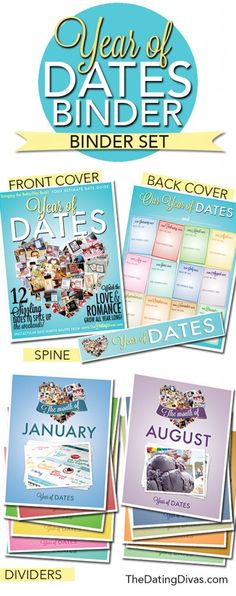 """Year of Dates"" Binder - Perfect to get a head start on my Christmas shopping!"
