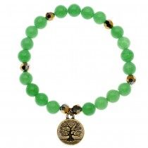 Supplies for Project B2000 - Green and Gold Tree of Life Bracelet