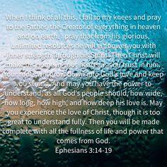 Ephesians 3:14-19