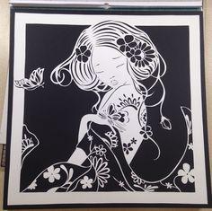 Paper cut geisha