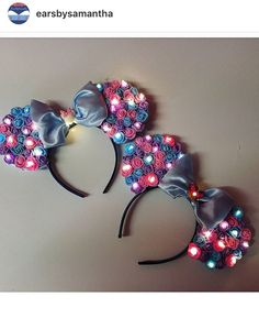 DIY light up Minnie Mouse ears