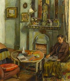 Bell, Vanessa - Interior with Duncan Grant, 1934