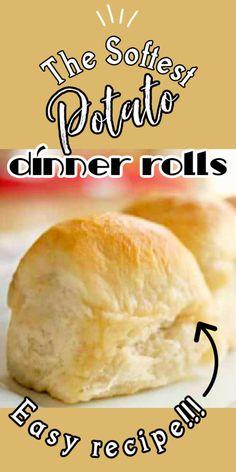 Yeast Rolls, Bread Rolls, Potato Rolls Recipe, Dehydrate Potatoes, Bread Recipes, Vegan Recipes, Instant Potatoes, Potato Dinner, Instant Yeast