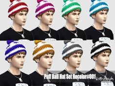 eb7bca39302 The Sims Resource  Puff Ball Hat Set by