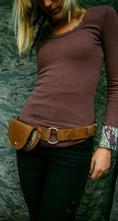 Love this hip leather fanny pack!