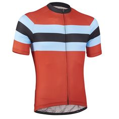 Gex Performance Jersey - Red Tornado | DannyShane | Designer Cycling Apparel of Bamboo White Ash Fabric