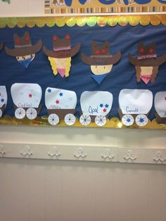 Cowboys and wagons Cowboy Theme, Western Theme, Cowboy And Cowgirl, Rodeo Crafts, Cowboy Crafts, Preschool Arts And Crafts, Preschool Activities, Crafts For Kids, Wild West Activities
