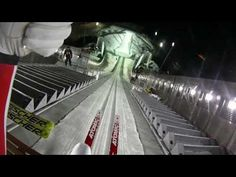 Ski-jump by Tom Hilde in the new Holmenkollen - HELMETCAM - YouTube