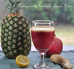 Zesty South Indian Kitchen: Pomegranate Pineapple Lemon Juice: A Tasty Detox