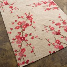 Embroider the branches. Cut felt flowers out (or buy). Stitch on flowers and give french knot centers. This could be a lovely blanket as well, or maybe a piece of a quilt or a curtain (make 2!) or a table runner...maybe you just need a fancy backdrop on the wall.
