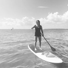 I was so excited to go paddle boarding last week while we at the ocean! It was very enjoyable!! #albiontravels #albionfit #iamalbionfit #paddleboarding by joannaharp