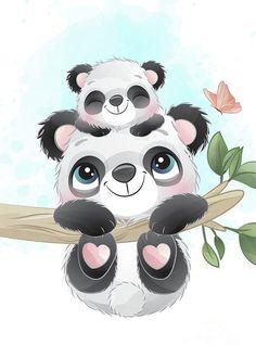Cartoon Pencil Drawing, Cute Panda Drawing, Cute Panda Cartoon, Baby Cartoon, Baby Elephant Drawing, Baby Drawing, Baby Zoo Animals, Cute Animals, Baby Panda Pictures