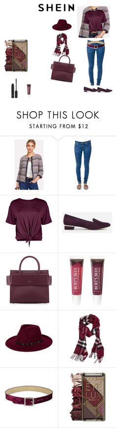 """""""printed jacket"""" by effyswanhaze on Polyvore featuring moda, Dondup, Boohoo, CHARLES & KEITH, Givenchy, Burt's Bees, Burberry, Steve Madden e ZOEVA"""