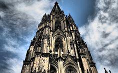 Download wallpapers Cologne Cathedral, 4k, german landmarks, HDR, Cologne, Germany