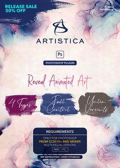 Photoshop plugins watercolor Watercolor Splatter, Watercolor And Ink, Photoshop Plugins, Photoshop Actions, Creator Studio, The Creator, Paint Strokes, Create Animation, Paint Effects
