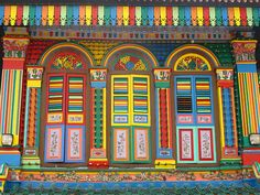 Colorful doors in Little India, Singapore. We have this photo, too! I was just there last month! Portal, Little India Singapore, Singapore Travel, Paint Paint, When One Door Closes, Cool Doors, World Of Color, Doorway, Windows And Doors