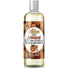 Artizen Sweet Almond Oil - (Ounce) Bottle Pure & Natural) - Perfect Carrier Oil for Diluting Essential Oils - Cold Pressed - Works Great as a Massage Oil, Aromatherapy, & More! - Health and Personal Care Product Search Diluting Essential Oils, Essential Oils For Colds, Natural Oils For Skin, Natural Hair, Salt Body Scrub, Coconut Oil Uses, Pure Oils, Best Oils