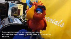 Lipsync bird: Impressive parrot from the 3D printer