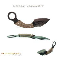 2014 Bladetricks Nosaf Karambit, Sculpted Natural Micarta Scales