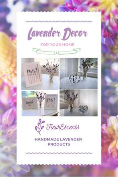 Beautiful Lavender Home Decor - Great For Any Room! By FleurEscents Lavender Decor, Kawaii Room, Handmade Leather Wallet, Cute Room Decor, Xmas Gifts, Room Inspiration, Etsy Seller, Bedroom Decor, Place Card Holders