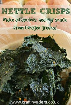 My love affair with Nettles is showing no sign of abating. Today I am sharing my latest favourite way of eating them - as Nettle Crisps!