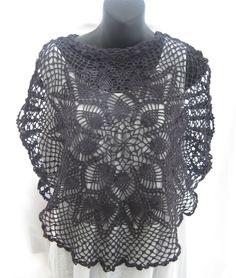 9945e98330329 Cropped hand dyed vintage lace shrug
