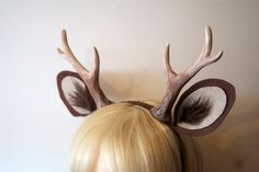 "Faun 6"" Antlers and Ears Headband / Deer Cosplay / Costume / Dark Brown by WhitefoxHats on Etsy https://www.etsy.com/listing/232497431/faun-6-antlers-and-ears-headband-deer"